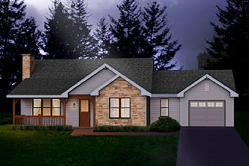 Country Exterior - Front Elevation Plan #22-508