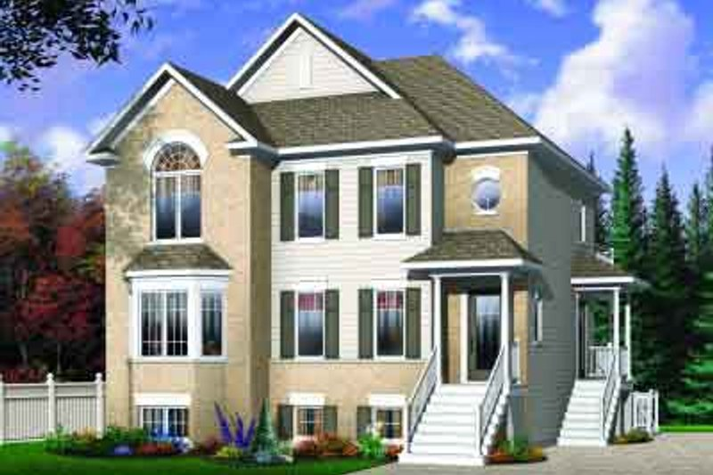 Traditional Exterior - Front Elevation Plan #23-558 - Houseplans.com