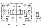 European Style House Plan - 3 Beds 3 Baths 4102 Sq/Ft Plan #20-1277 Floor Plan - Main Floor