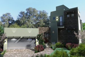 Modern Exterior - Front Elevation Plan #120-169