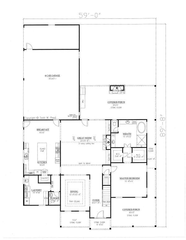 Farmhouse Floor Plan - Main Floor Plan Plan #437-92