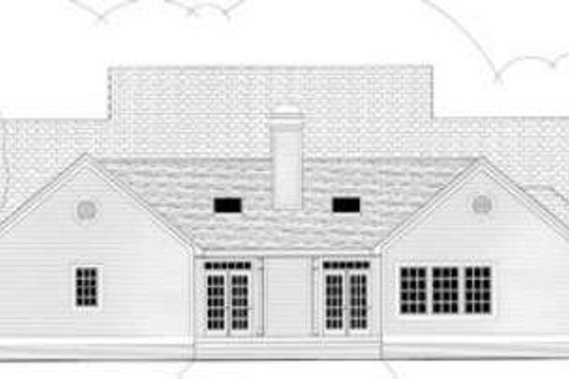 Traditional Exterior - Rear Elevation Plan #406-108 - Houseplans.com
