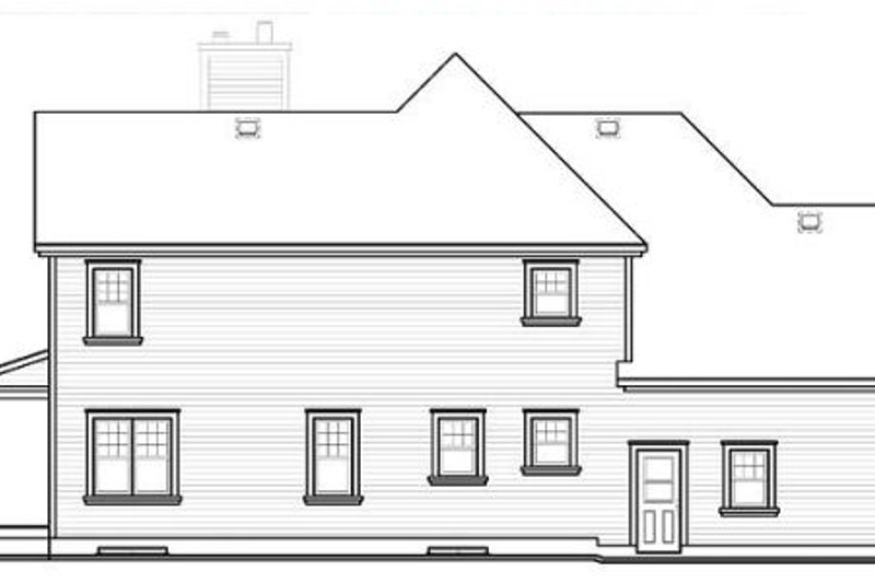 Country Exterior - Rear Elevation Plan #23-744 - Houseplans.com