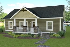 Craftsman Exterior - Front Elevation Plan #44-225
