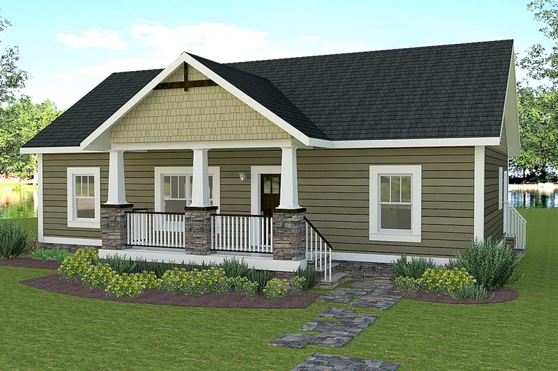 Architectural House Design - Craftsman Exterior - Front Elevation Plan #44-225
