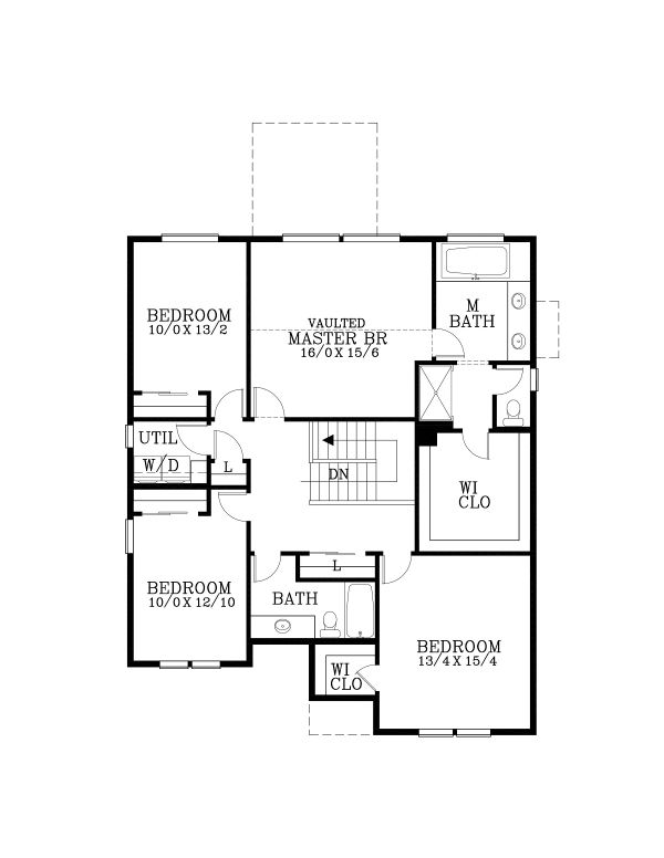 House Plan Design - Craftsman Floor Plan - Upper Floor Plan #53-650