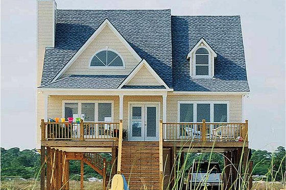 Beach Exterior - Front Elevation Plan #37-143