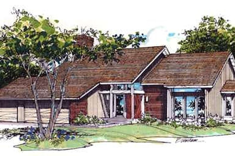 Modern Style House Plan - 3 Beds 2.5 Baths 2444 Sq/Ft Plan #320-428 Exterior - Front Elevation