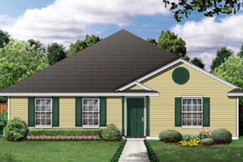 Ranch Exterior - Front Elevation Plan #84-473 - Houseplans.com