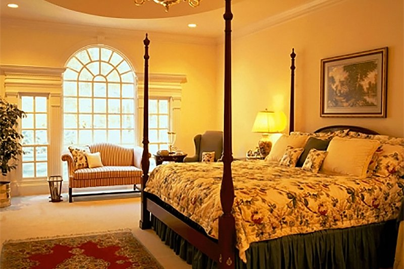 Southern Interior - Master Bedroom Plan #137-116 - Houseplans.com
