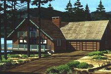 Dream House Plan - Cabin Exterior - Front Elevation Plan #320-297