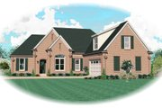 European Style House Plan - 3 Beds 3 Baths 2567 Sq/Ft Plan #81-13760 Exterior - Front Elevation