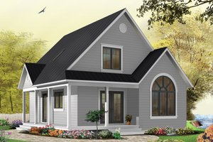 Dream House Plan - Cottage Exterior - Front Elevation Plan #23-824