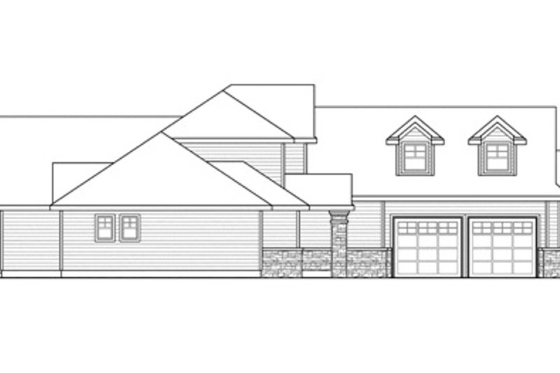 Traditional Exterior - Other Elevation Plan #124-849 - Houseplans.com