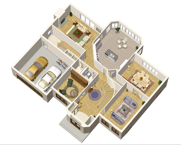 European Floor Plan - Main Floor Plan Plan #25-4699