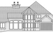 Craftsman Style House Plan - 4 Beds 3.5 Baths 3773 Sq/Ft Plan #51-562 Exterior - Rear Elevation