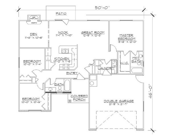 Ranch Floor Plan - Main Floor Plan Plan #5-231