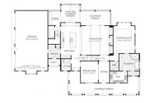 Farmhouse Floor Plan - Main Floor Plan Plan #927-988