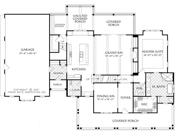 Farmhouse Floor Plan - Main Floor Plan Plan #927-988