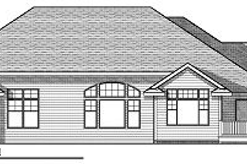 Craftsman Exterior - Rear Elevation Plan #70-873 - Houseplans.com