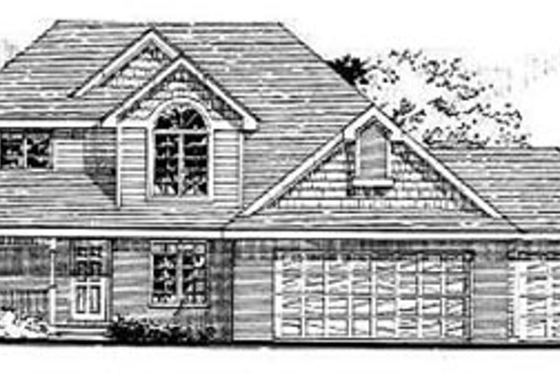 Traditional Style House Plan - 3 Beds 2.5 Baths 1856 Sq/Ft Plan #50-210 Exterior - Front Elevation