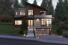 Dream House Plan - Contemporary Exterior - Front Elevation Plan #1066-38