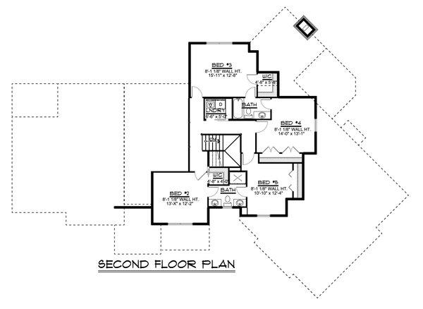 Home Plan - Craftsman Floor Plan - Upper Floor Plan #1064-120