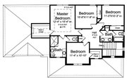 Traditional Style House Plan - 4 Beds 2.5 Baths 2076 Sq/Ft Plan #46-899 Floor Plan - Upper Floor