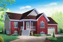 Dream House Plan - Traditional Exterior - Front Elevation Plan #23-345