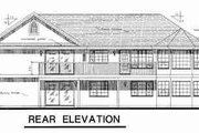 Ranch Style House Plan - 3 Beds 2 Baths 1927 Sq/Ft Plan #18-9026 Exterior - Rear Elevation
