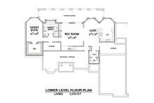 European Floor Plan - Lower Floor Plan Plan #20-2388