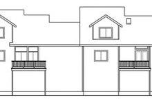 House Plan Design - Traditional Exterior - Rear Elevation Plan #124-810
