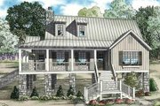 Cottage Style House Plan - 4 Beds 2 Baths 1472 Sq/Ft Plan #17-2355 Exterior - Front Elevation