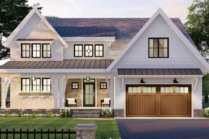 Farmhouse Exterior - Front Elevation Plan #51-1167