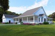 Farmhouse Style House Plan - 4 Beds 4 Baths 3474 Sq/Ft Plan #923-108 Exterior - Rear Elevation