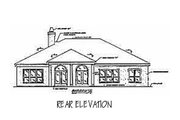 Mediterranean Style House Plan - 3 Beds 2.5 Baths 2323 Sq/Ft Plan #37-123 Exterior - Rear Elevation