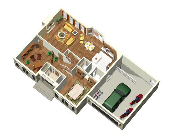 European Floor Plan - Main Floor Plan #25-4665