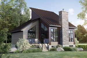 Cottage Exterior - Front Elevation Plan #25-4923