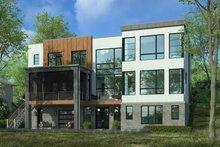 House Plan Design - Contemporary Exterior - Rear Elevation Plan #928-353