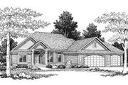 Traditional Style House Plan - 3 Beds 2 Baths 2266 Sq/Ft Plan #70-360 Exterior - Front Elevation