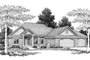 Traditional Exterior - Front Elevation Plan #70-360
