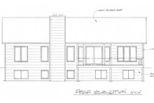 Home Plan - Ranch Exterior - Rear Elevation Plan #58-164