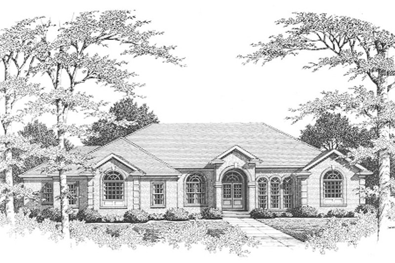 European Style House Plan - 3 Beds 3 Baths 2575 Sq/Ft Plan #10-111 Exterior - Front Elevation