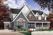 Dream House Plan - European Exterior - Front Elevation Plan #23-531