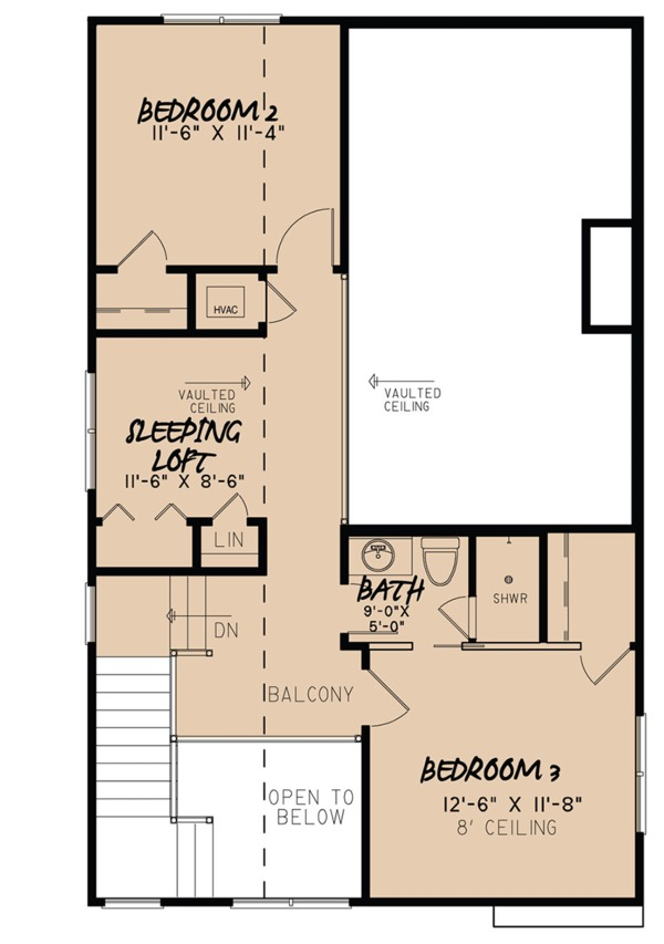 Craftsman Floor Plan - Upper Floor Plan Plan #923-81