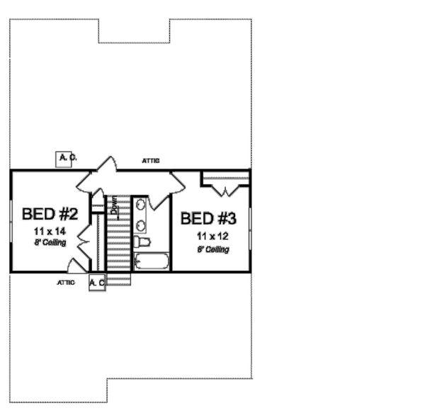 Cottage Floor Plan - Upper Floor Plan Plan #513-2177