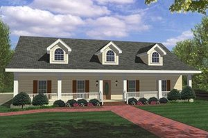 Country Exterior - Front Elevation Plan #44-115
