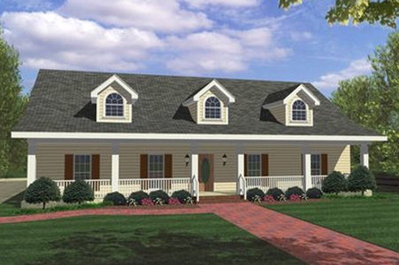 Country Exterior - Front Elevation Plan #44-115 - Houseplans.com