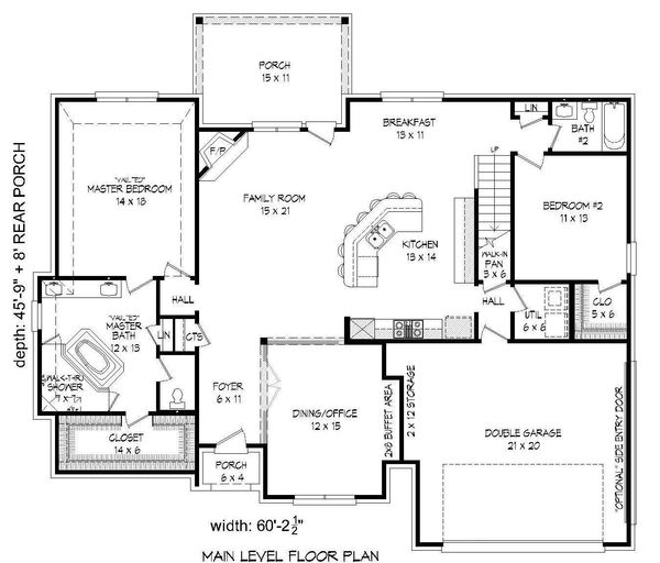 House Plan Design - European Floor Plan - Main Floor Plan #932-30