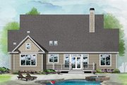 Ranch Style House Plan - 3 Beds 2 Baths 1730 Sq/Ft Plan #929-1091 Exterior - Rear Elevation
